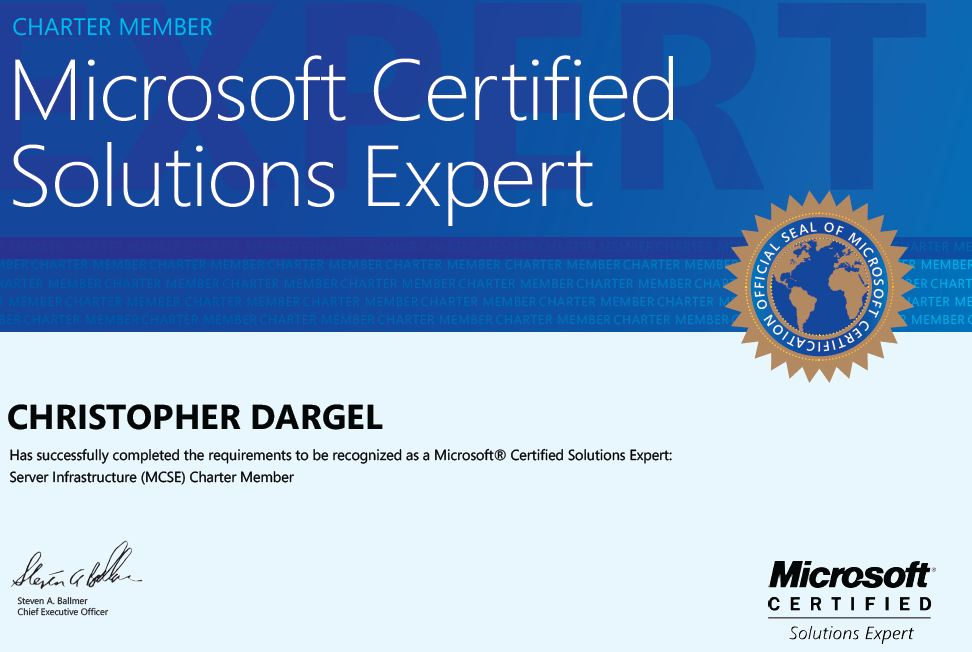 Bechtle Blog Finally Got Certified In Server 2012